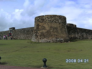 English: the Puerto Plata fort